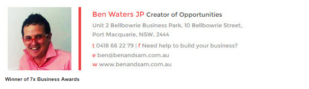 Ben Waters from Ben and Sam Email Signature
